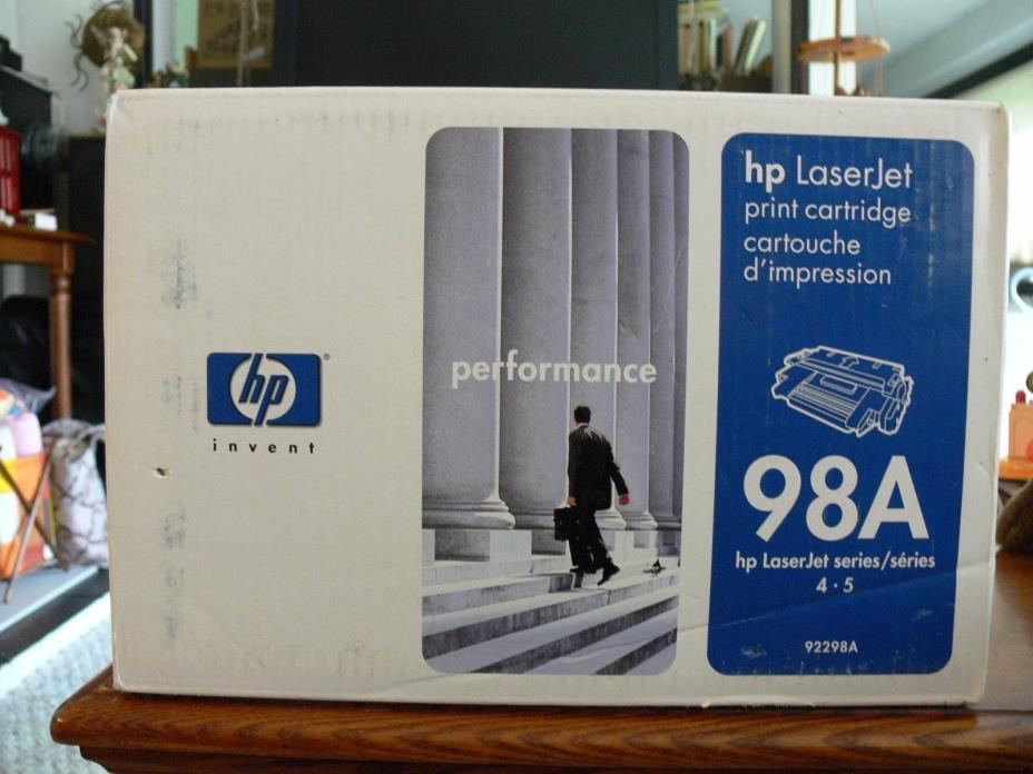 HP 92298A Black Toner Cartridge 98A Genuine NEW Sealed Box
