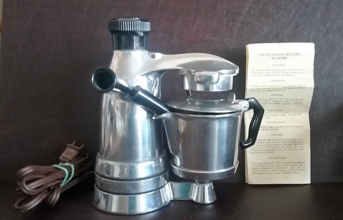 Vintage Signor Salton Electric Espresso Maker EX-3  Excellent Condition