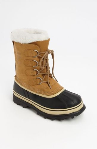 $149 Floor Sample Women's SOREL Buff Caribou Faux Fur Lace Up Snow Boots Size 5