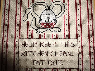 Cross-Stitch picture saying