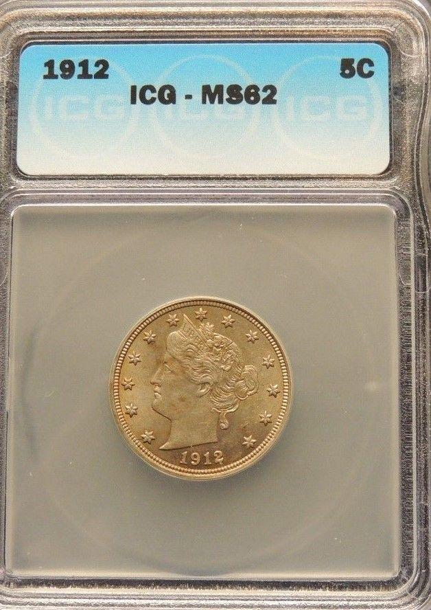 1912 ICG MS 62 Liberty Nickel~~Golden & Lusterous~~Below Trends~~Wholesale Price