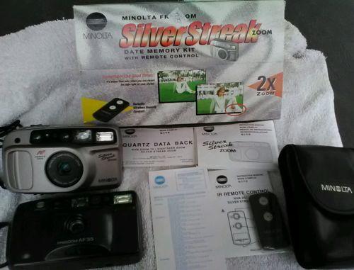 Minolta Freedom Silver Streak Zoom 35mm Camera & Minolta Riva Freedom INCLUDED