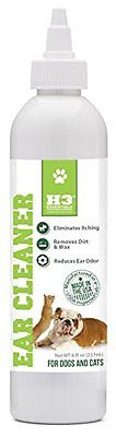 H3 Essentials Dog Ear Cleaner For Dogs and Cats with Aloe - 8 oz