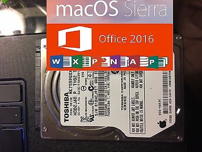 750GB 2.5 SATA HDD Hard Drive 2016 Mac OS Sierra Microsoft Office 2016