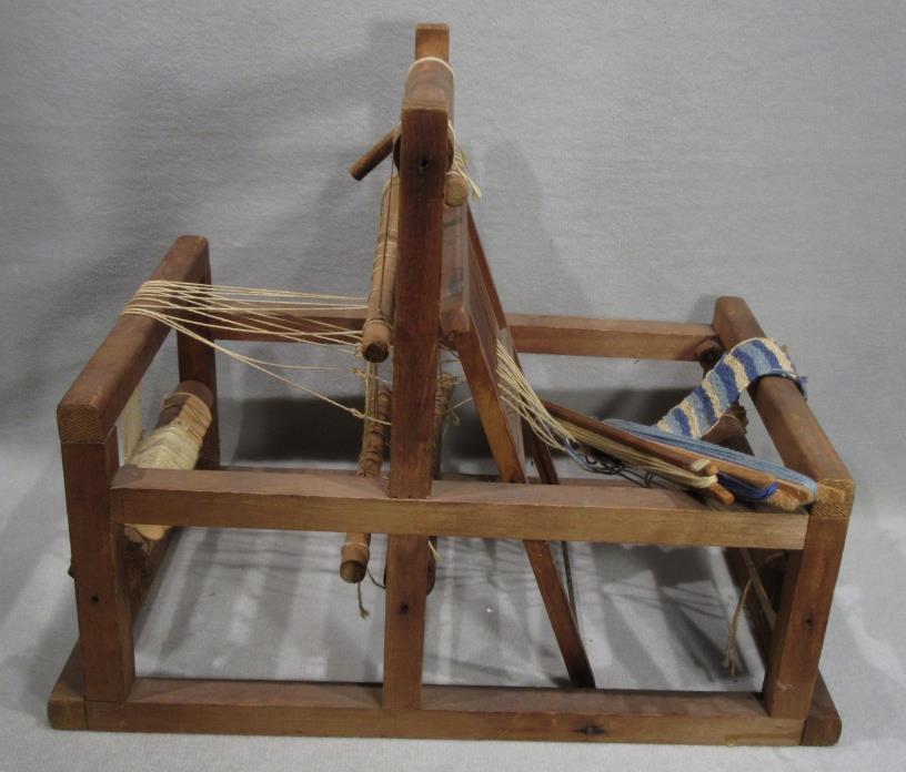 Vintage Ostlind Miniature Wooden Wood Antique Loom