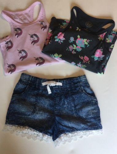 Lot Of 3 S.O. Tanks & Jessica Simpson Shorts Girls size 12, EUC
