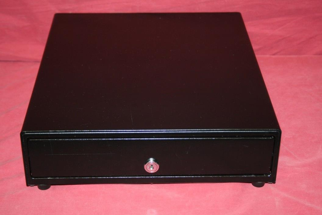 APG Vasario Cash Drawer VP320-BL1416 With Removable Cash Tray-NO KEY