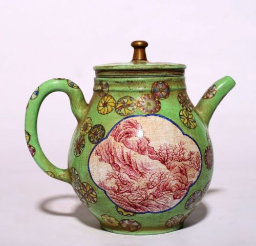 Chinese Special Antique Craftsmanship Yixing Zisha Teapot Collection PT105