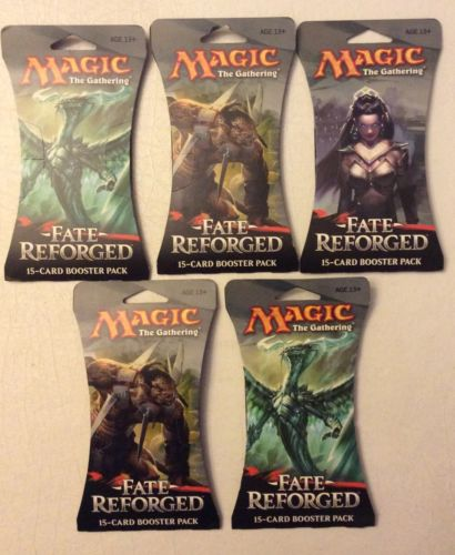 MAGIC THE GATHERING FATE REFORGED (5) BLISTER PACK LOT MINT & SEALED