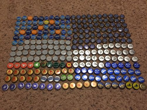 260 Beer Bottle Caps Tops assorted variety for collection or arts and crafts