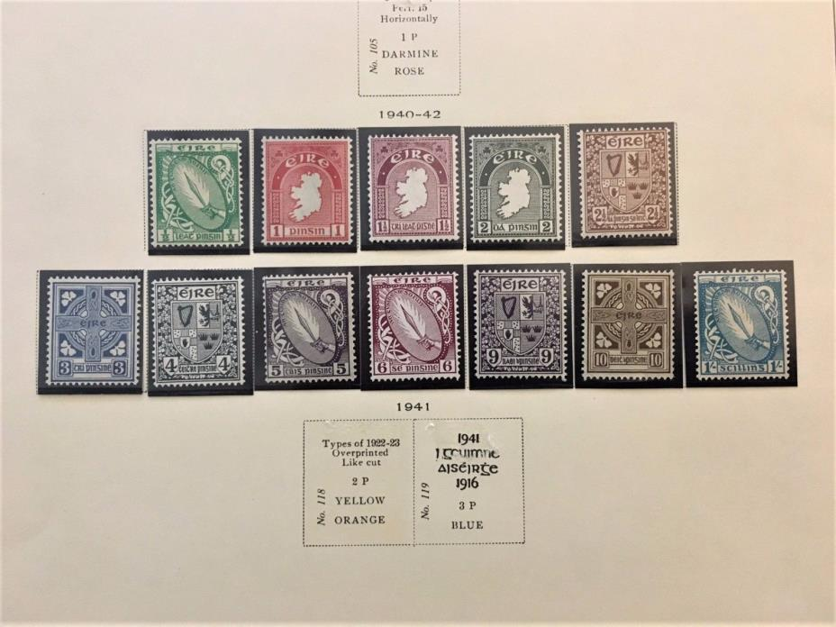 Ireland #106-17 Mint O.G.     Cat. $232.75