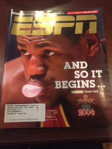 LEBRON JAMES NBA DEBUT SEASON NOVEMBER 10, 2003 ESPN THE MAGAZINE
