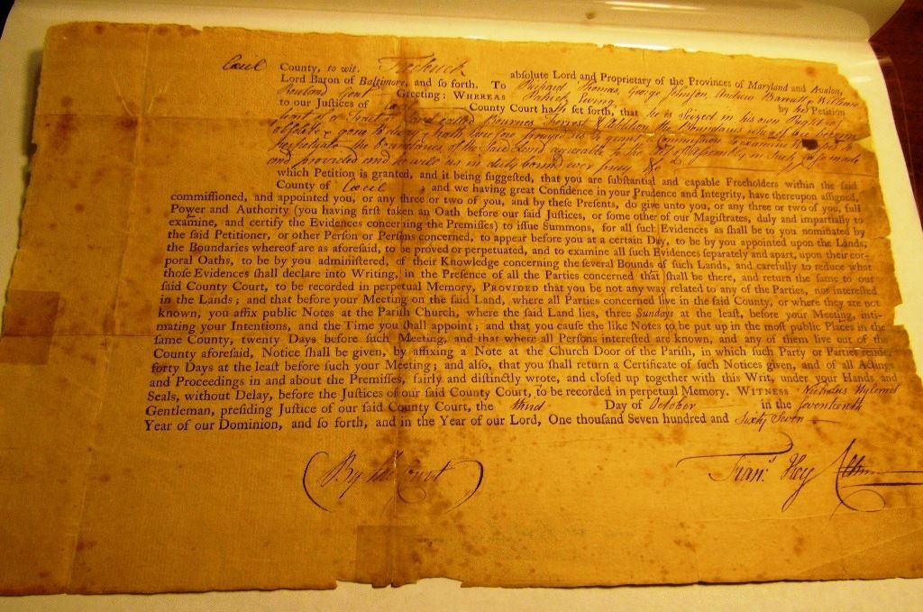 1767 Land Deed-signed by FRANCES KEY, grandfather of FRANCES SCOTT KEY