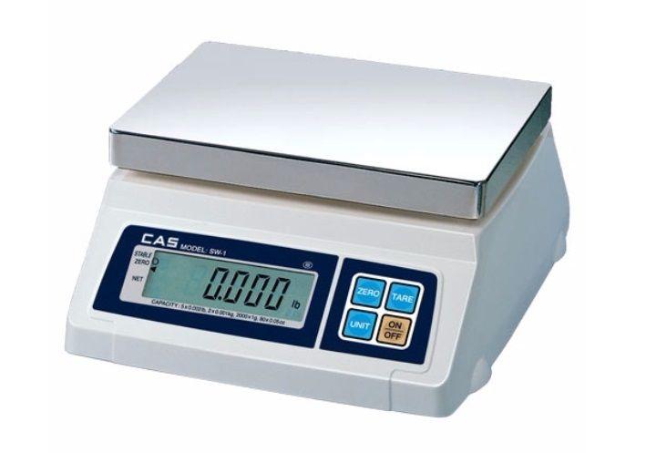CAS SW-1D Portion Control 5-50 LB Scale w/Dual Display, Farmers Market