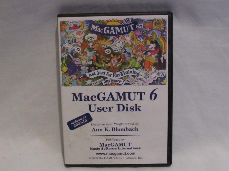 MacGAMUT 6 User CD for Mac and Windows (1E1)