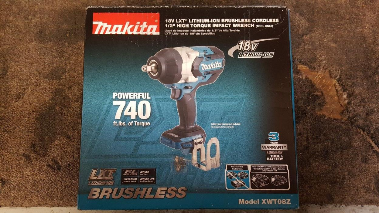 *NEW* Makita 18V LXT Lithium-Ion Brushless Cordless High Torque 1/2
