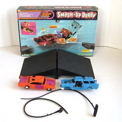 Vintage 1971 Original Kenner SSP Smash Up Derby Cars Ramps Power Sticks in Box