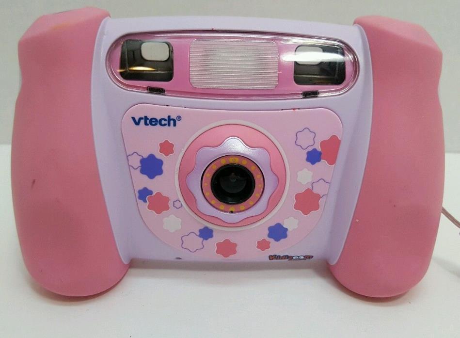 VTECH Kidizoom Pink Girls Digital Camera 1.3 MP 4x Zoom picture video flash MINT