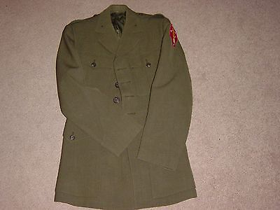 ORIGINAL WW2 USMC OFFICER'S UNIFORM NAMED - BOUGAINVILLE COMBAT VET