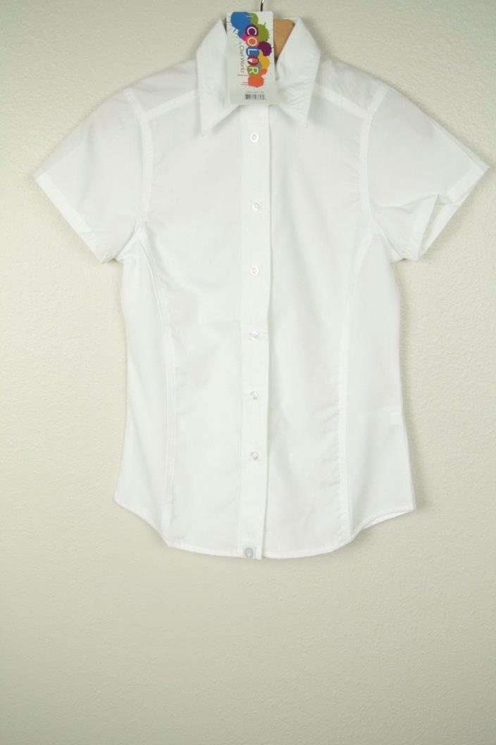 Chef Works Womens L White Cool Vent Button Down Chef Shirt NWT SZ XS