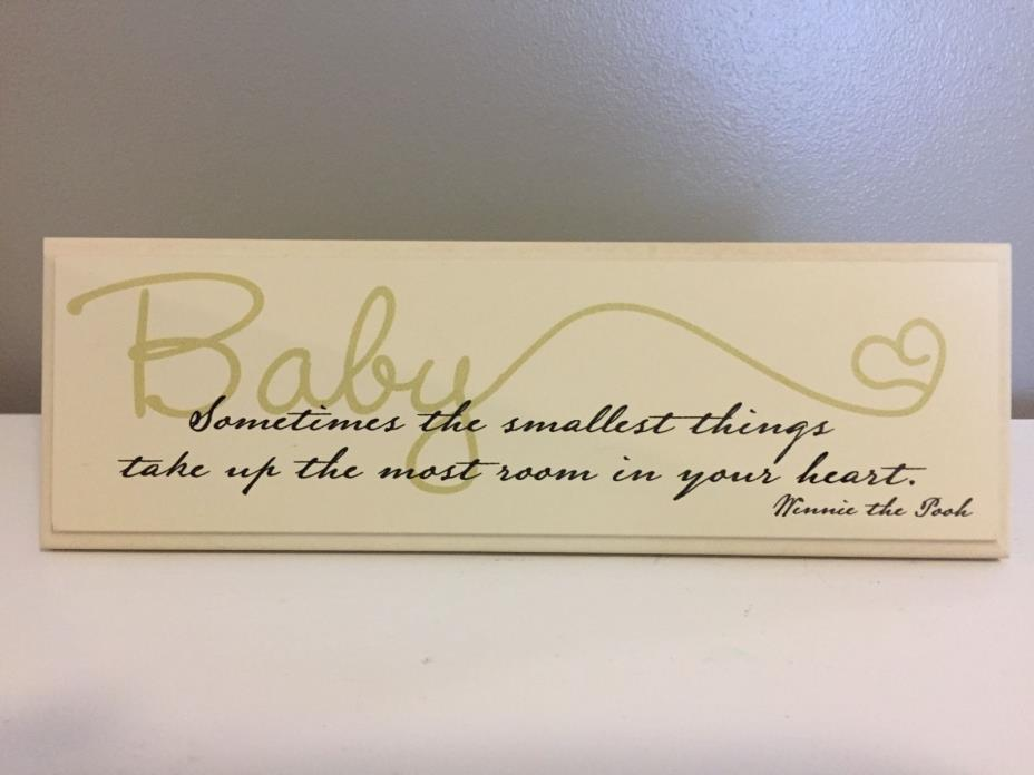 Winnie the Pooh Baby Wooden Plaque - Perfect Nursery Decoration