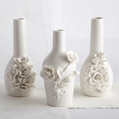 Two's Company Capo-Di-Monte Inspired Sculpted Rose Vase Style: Cluster of Petals