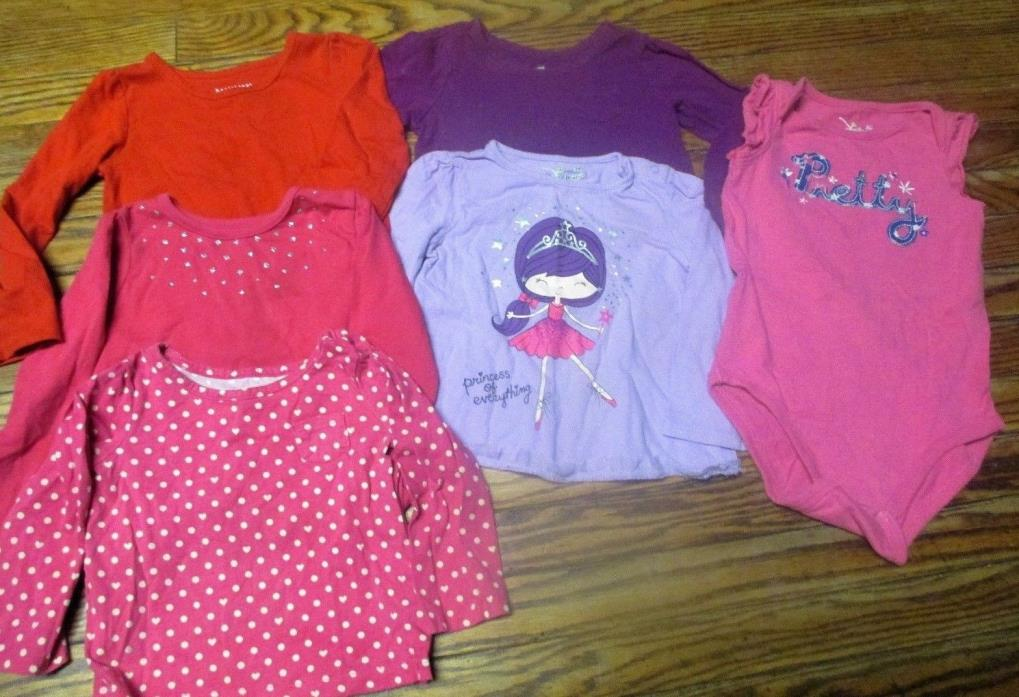 Lot Of 6 Toddler Girls Size 2t Shirts