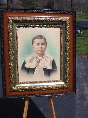 NICE OLD VICTORIAN OAK PICTURE FRAME WITH GESSO