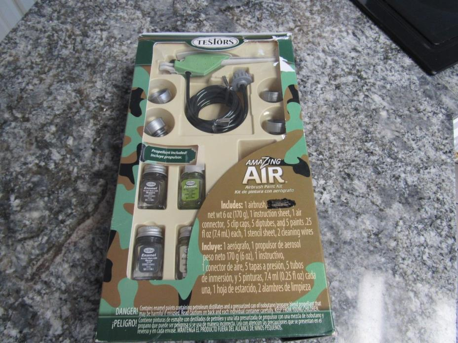 Testors Amazing Air Camouflage Airbrush Paint Kit Ages 14 &up - Air Not Included