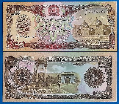 Afghanistan P-61 1000 Afghanis Year 1979-91 Uncirculated Banknote FREE SHIPPING