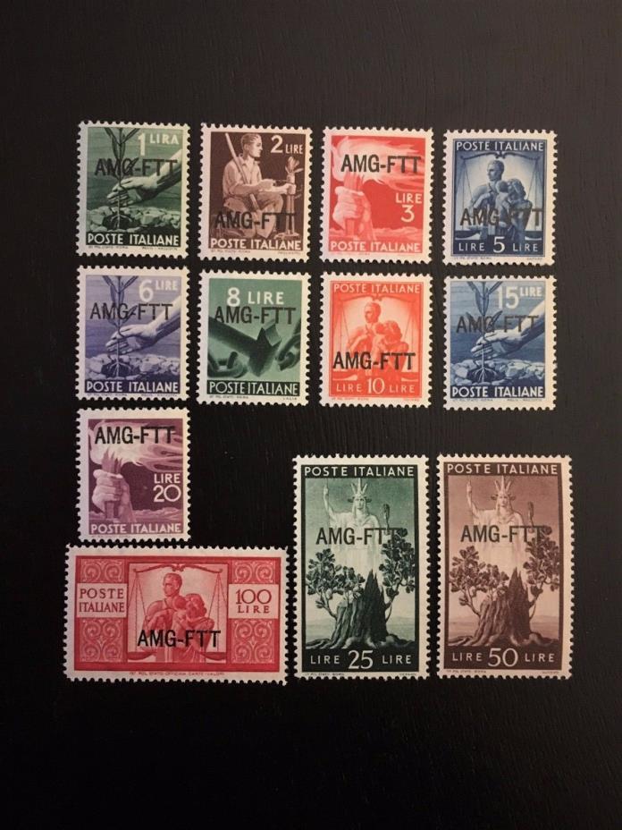 Italy- Trieste #58-69 Mint O.G.     Cat. $282.90