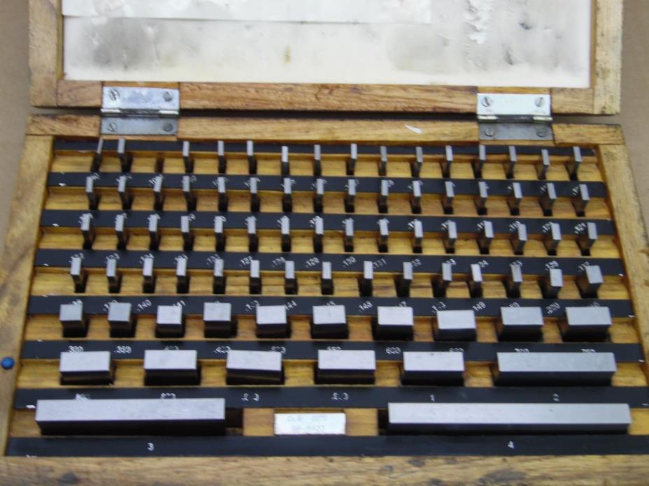 GAGE BLOCK SET 81pc. GRADE B  Metrology Services MACHINIST Calibration missing 1