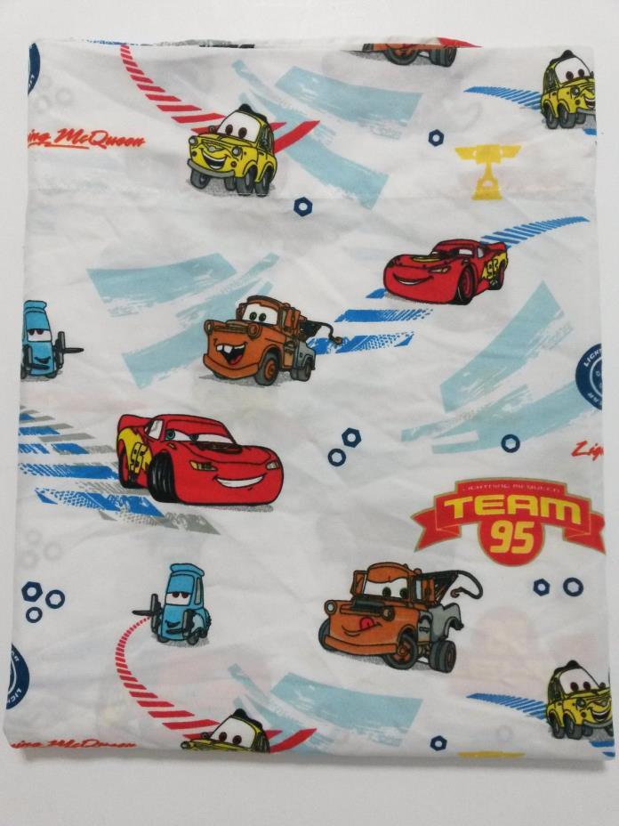 Disney Pixar Childrens Twin Flat Sheet Lighting McQueen 56 x 44 Kids Bedding