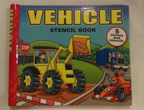 Vehicle Stencil Childrens Book