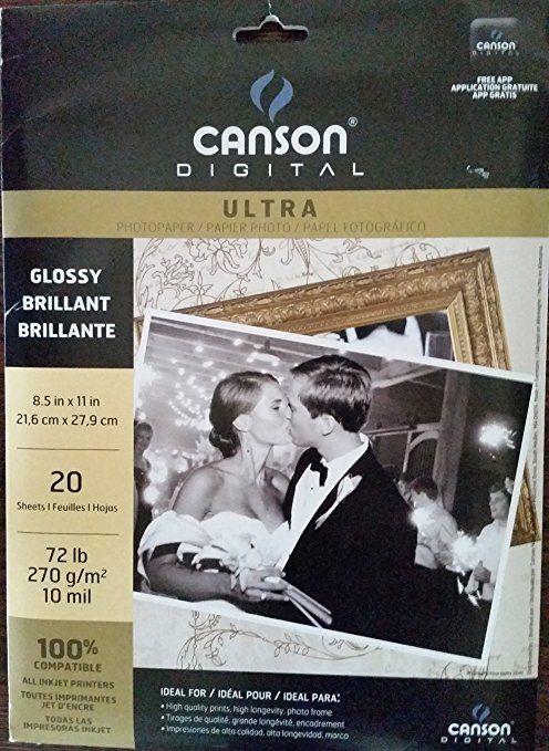 Canson Digital Ultra Photo Glossy Brilliant Paper Inkjet Printers 20 X 4 Packs