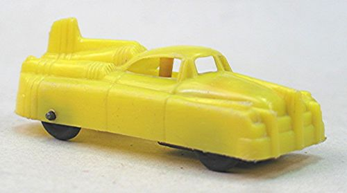 Vintage Yellow Plastic Space Car Friction Toy