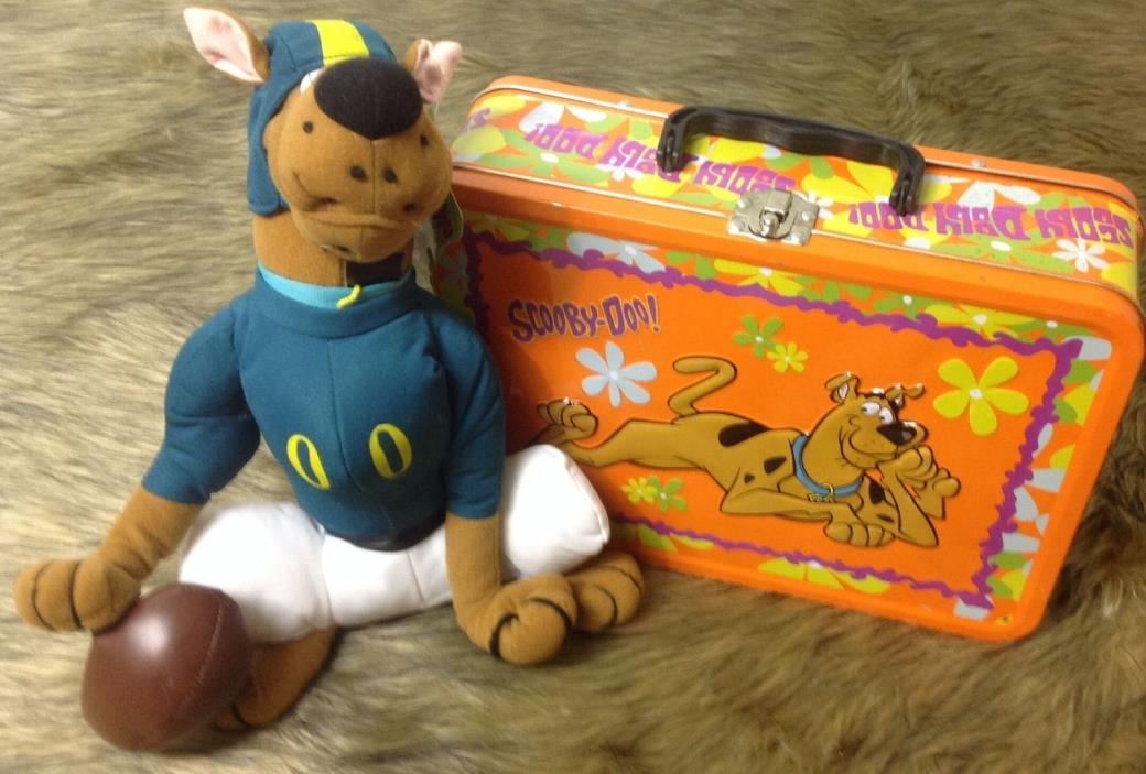 Scooby-Doo Metal Lunch Box The Mystery Machine Travel Case Football Scooby Doll