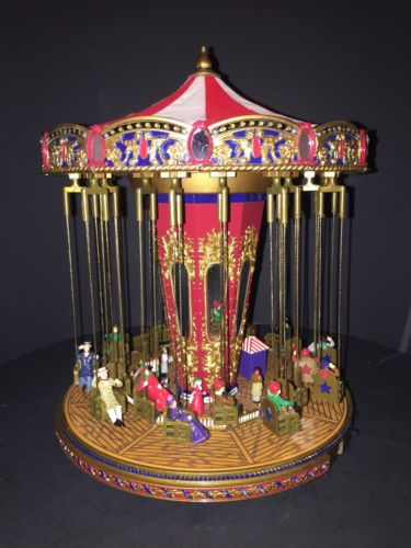 Mr Christmas World's Fair Swing Carousel Gold Label - 30 Songs Lights