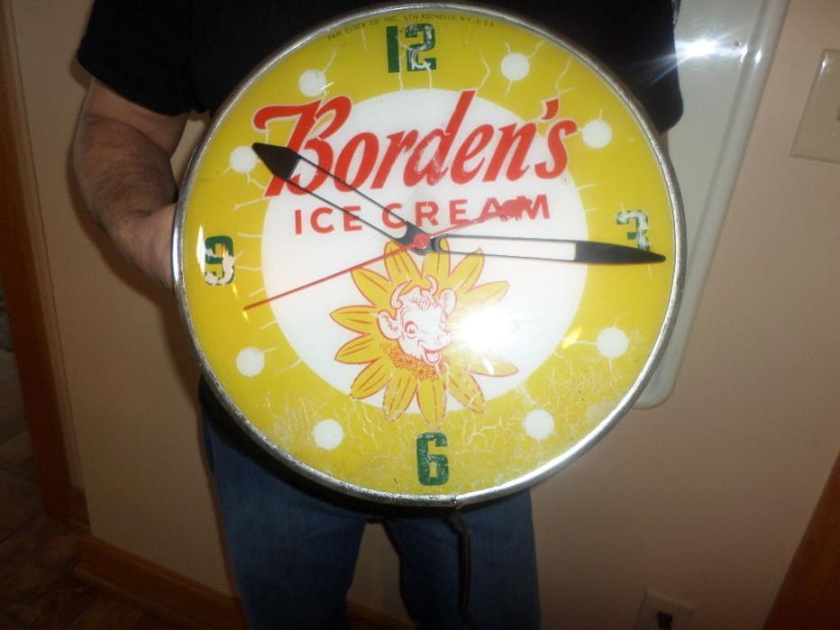 bordens ice cream pam clock