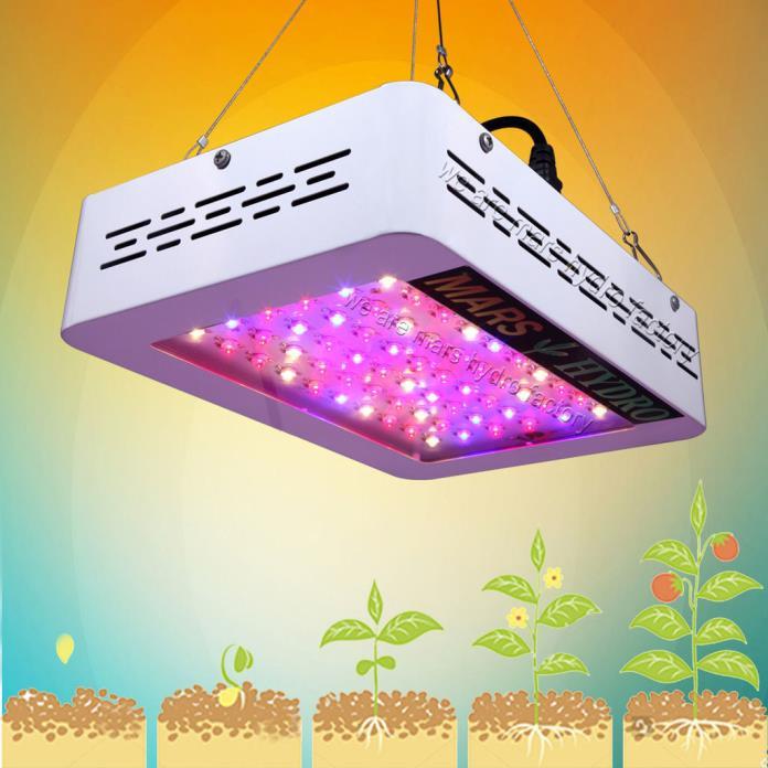 Mars 300W LED Grow Light Full Spectrum Hydro Veg Flower Indoor Plant Lamp 135W