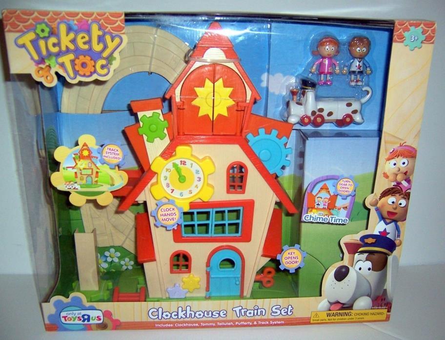 NEW Tickety Toc Clockhouse Train Set Nick Jr Tommy Tallulah Pufferty Track