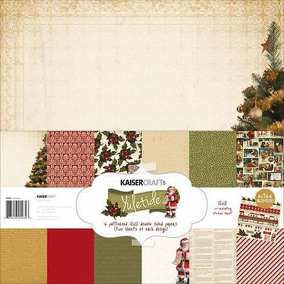 KaiserCraft Yuletide Christmas Xmas 12x12 Christmas Paper Pack Collection