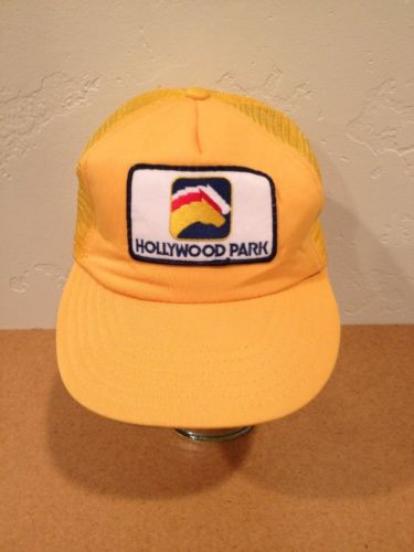 VTG HOLLYWOOD PARK Racetrack Snap back Baseball HAT CAP HORSE RACING A17
