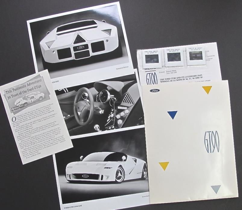 FORD LEMANS STLYE CONCEPT CAR GT90 AUTOMOTIVE PRESS KIT DETROIT ADVERTISING