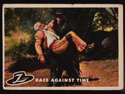 1958 TOPPS ZORRO #74 RACE AGAINST TIME GD FREE SHIPPING