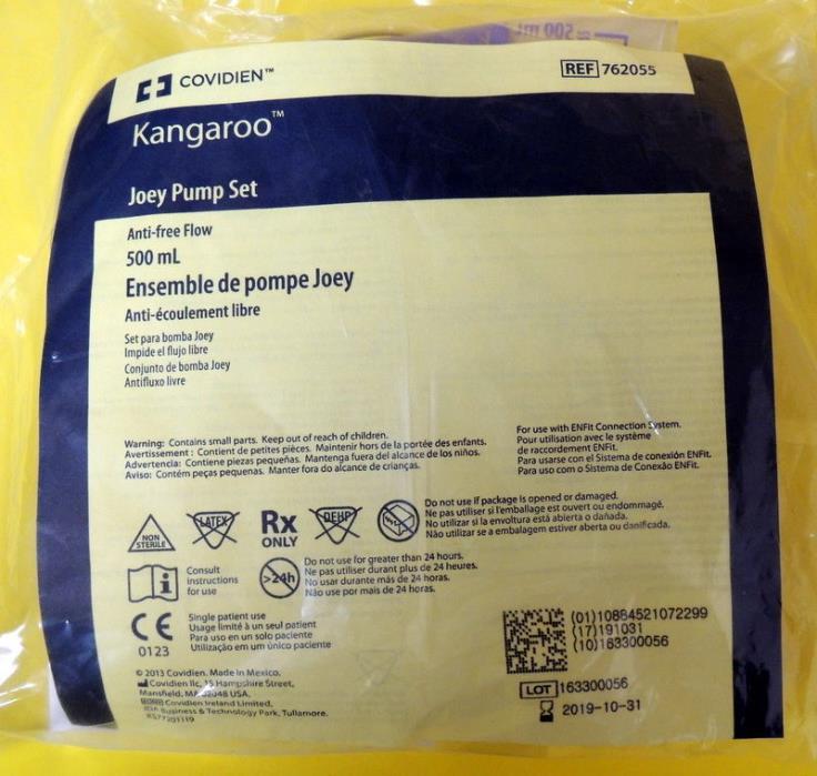 30 Kangaroo Joey Pump Epump Set by Covidien 500 ml - NEW