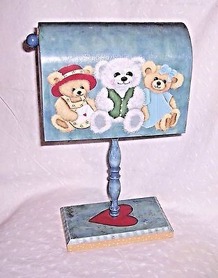 TEDDY BEARS -HEART WOODEN MAILBOX: PARTY - DECORATION - PROP