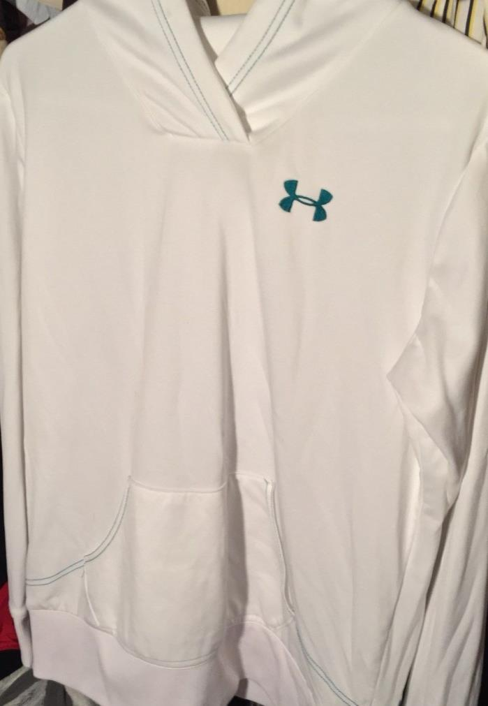 womens white under armour sport hoodie size large