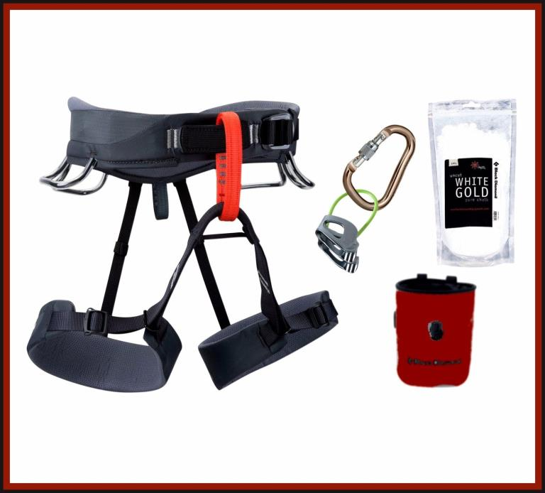 TOTALLY AWESOME Black Diamond Momentum Harness Package X-Small  COOL