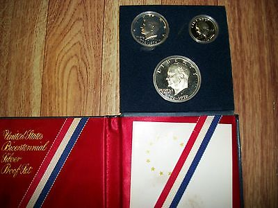 3 United States Bicentennial Silver Proof Sets you get 3 sets